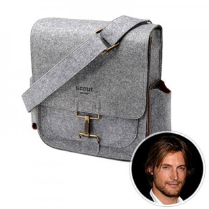 Photo of Gabriel Aubry and Petunia Pickle Bottom Scout bag