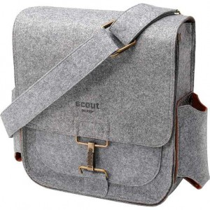 heather gray scout baby bag by Petunia Pickle Bottom