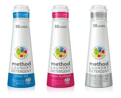 The three scents of Method Laundry Detergent available