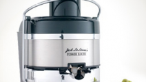 Jack LaLanne Power Juicer Deluxe, a stainless steel electric juicer