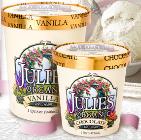 Julie's Organic Ice Cream Vanilla and Chocolate