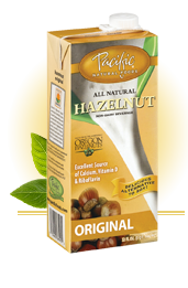 Pacific Natural Foods Hazelnut Non-Dairy Beverage carton