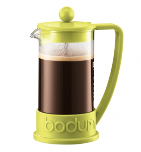 Brazil French Press coffee maker, 3 cup, 0.35 l, 12 oz Lime green