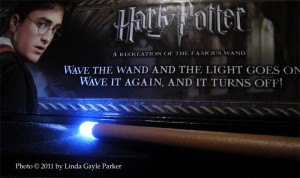 harry potter illuminated wand tip