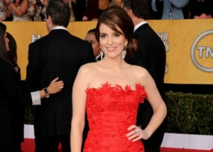 Tina Fey on the red carpet at The SAG Awards.