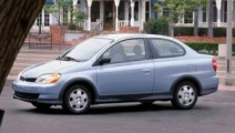 Light blue 2002 2-door Toyota Echo