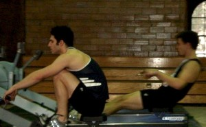 Williams College rowers on Concept 2 Indoor Rowers