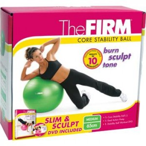 Gaiam's The Firm: Slim & Sculpt Stability Ball 65 cm