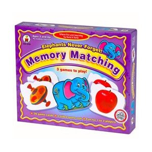 Elephants Never Forget Memory Matching Game by Carson-Dellosa