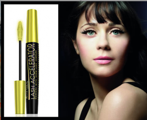 Zooey Deschanel and Rimmel Lash Accelerator Mascara