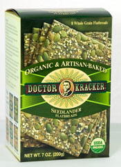 A box of Doctor Kracker Organic & Artisan-Baked Seedlander Flatbreads
