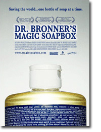 Movie poster for Dr. Bronner's Magic Soapbox documentary