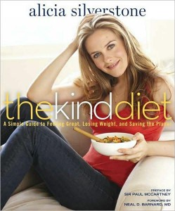 "Photo of Alicia Silverstone's vegan cookbook ""The Kind Diet"""