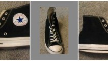 Three different views of my Chucks.