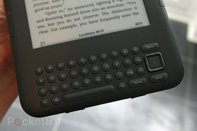The keys of the kindle Keyboard