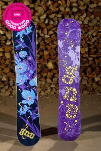 Two Gnu B-Nice floral print snowboards