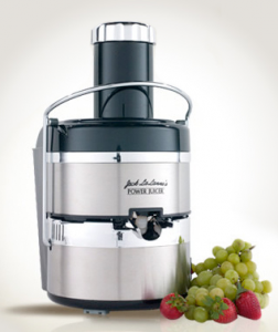 Jack LaLanne's Power Juicer Deluxe, a stainless steel electric juicer