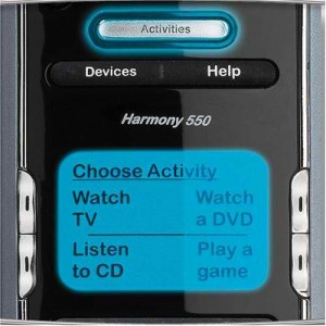 Logitech Harmony 550 Screen