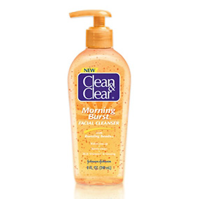 Clean & Clear Morning Burst facial cleanser pump bottle