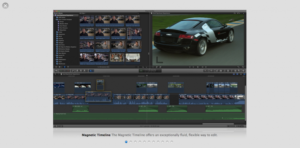 Final Cut Pro X in action
