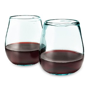 Image of two glasses made from recycled windshields