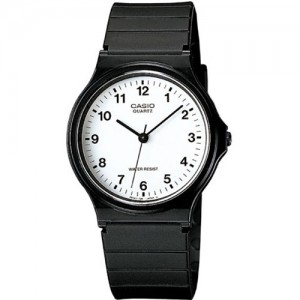 Casio Men's MQ24-7B Analog Black Resin Strap Watch