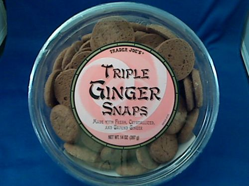 Triple Ginger Snap cookies from Trader Joe's