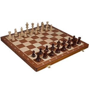 Wooden Chessboard and Pieces