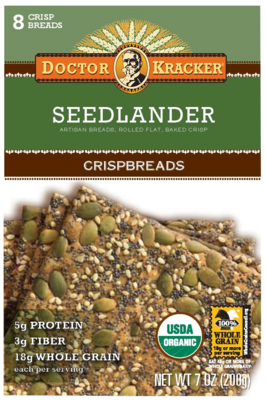 Dr. Kracker Seedlander Crispbreads (different packaging for Seedlander Flatbreads)