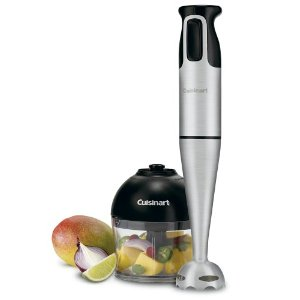 Cuisinart CSB-77 Smart Stick Hand Blender with Whisk and Chopper Attachments