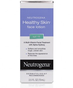 A picture of Neutrogena Healthy Skin Face Lotion SPF 15