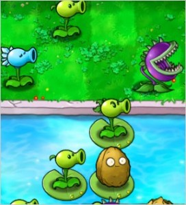 An up-close view of the Plants Vs. Zombies graphics