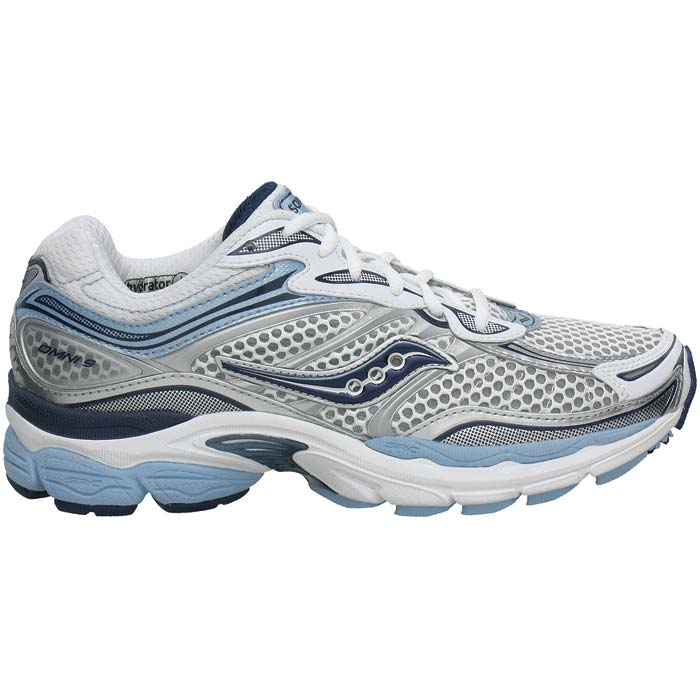 Saucony ProGrid Omni 9 Women's running shoe in white/light blue