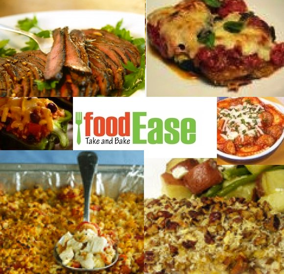 Food Ease Logo and Dinner Images