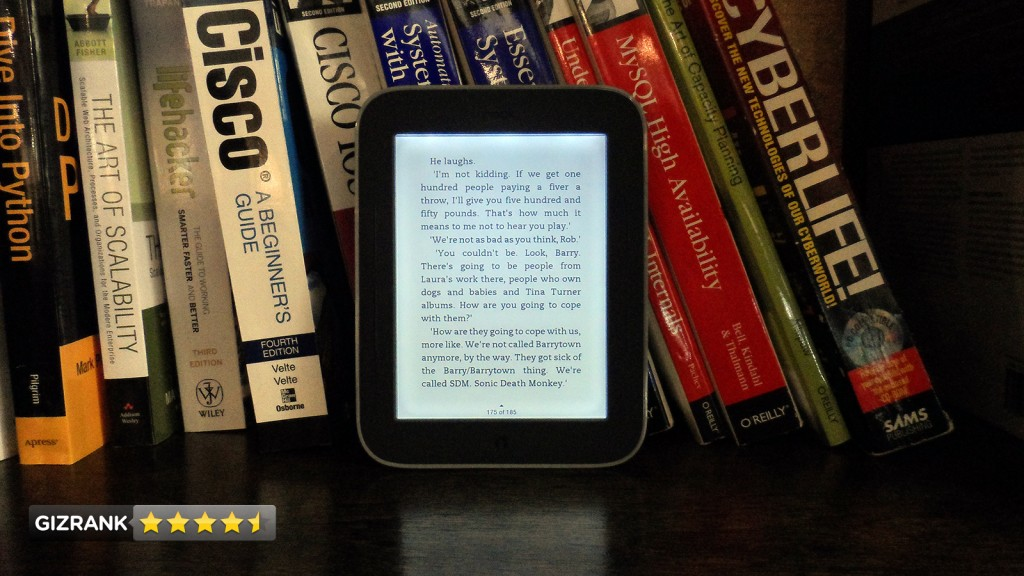 NOOK Simple Touch using GlowLight feature