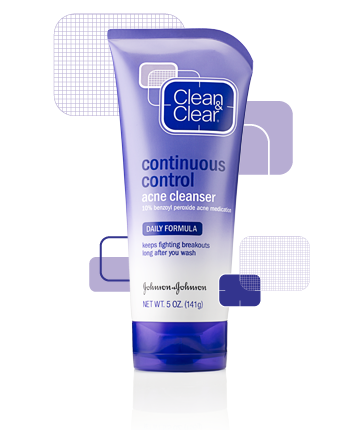 Image of Clean & Clear Continuous Control Acne Cleanser in a 5oz. tube