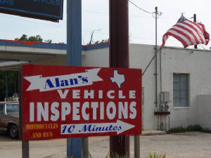 Alan's Texas State Vehicle Inspections