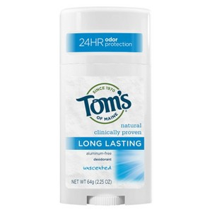Tom's of Maine Unscented Long Lasting Aluminum-free Deodorant
